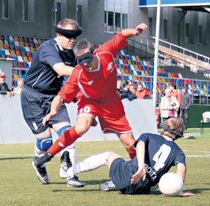 Футбол вслепую