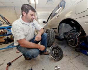 Строение колёс машины