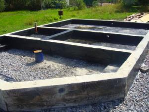 Фундамент из щебня и бетона