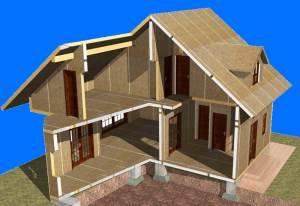 Дом каркасно-панельный