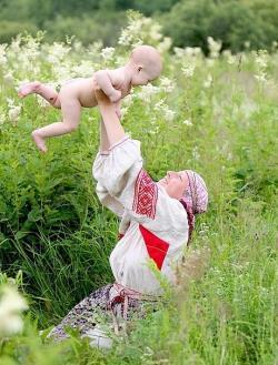 Роды в поле